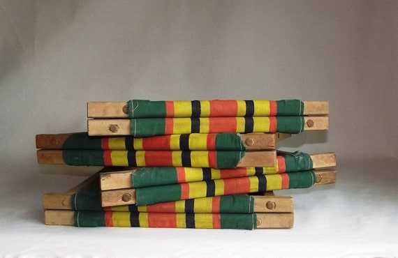 4 Vintage Folding Camp Stools