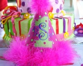 Birthday Hat Custom Made to Match Your Party or Birthday Shirt Monogrammed Free