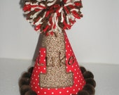 Sock Monkey Birthday Hat