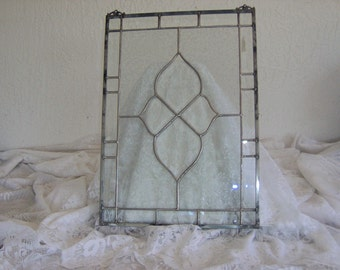 Sale - Beveled Hanging Stained Glass Panel