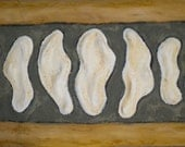 Unearthed-clay relief wall hanging