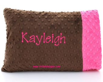 Personalized Toddler Pillow Case and Pillow - Choose From Over 24 Different Colors