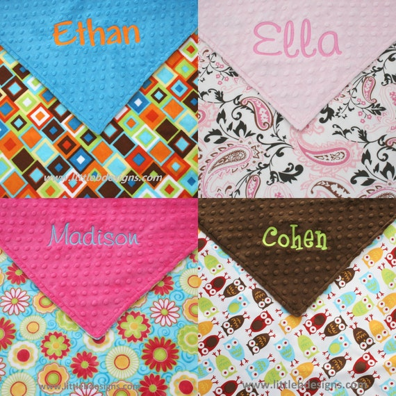 Baby Blanket Personalized - Design Your Own Custom - Boy or Girl Baby Blanket 28x34