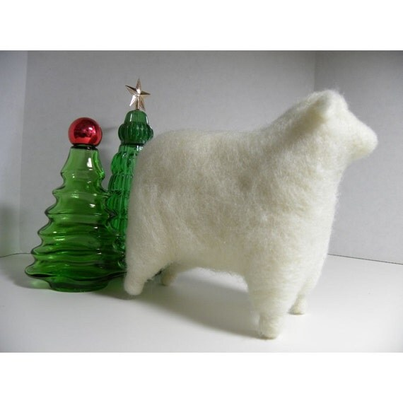 SALE Soft and Friendly Wooly Needle Felted Lamb
