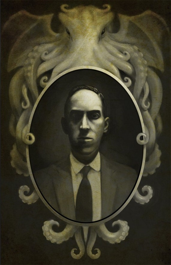"""H.P. Lovecraft 13x19 print   """"From This Well Madness Springs"""""""