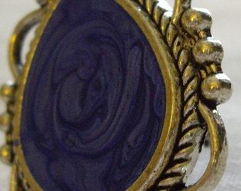 Swirling Blue Teardrop Ring