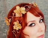 Bronze embers - a floral flapper crown