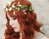 Ophelia - cream medieval floral crown - Last one