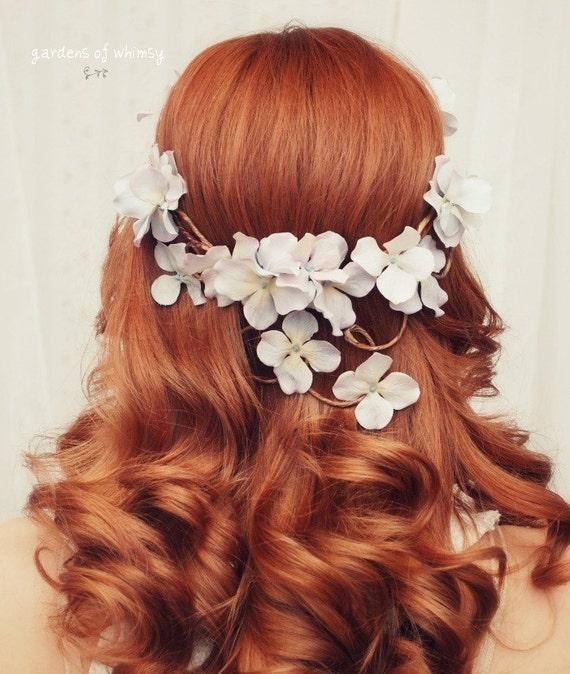 Boho bridal head piece - Diana - woodland crown, flower crown, wreath, weddings