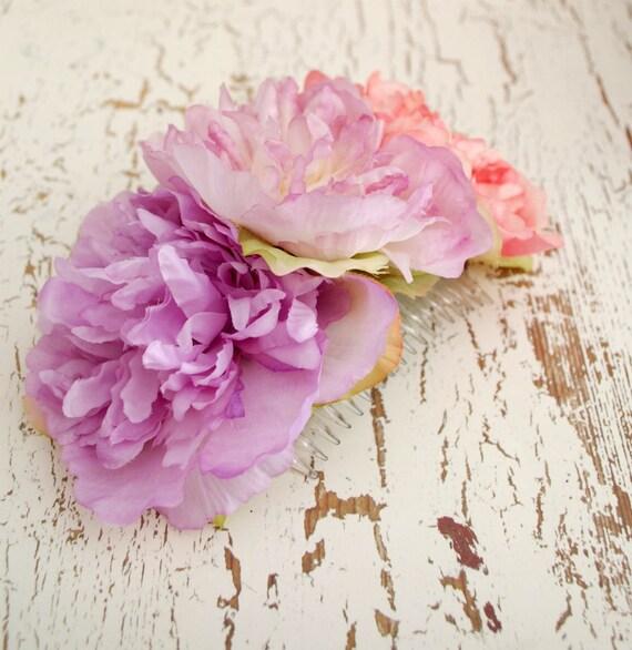 Bella - shabby chic blossom trio comb - SALE
