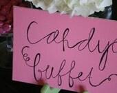 Pink Candy Buffet Sign