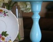 Blue Cake Stand. Small/Tall Size