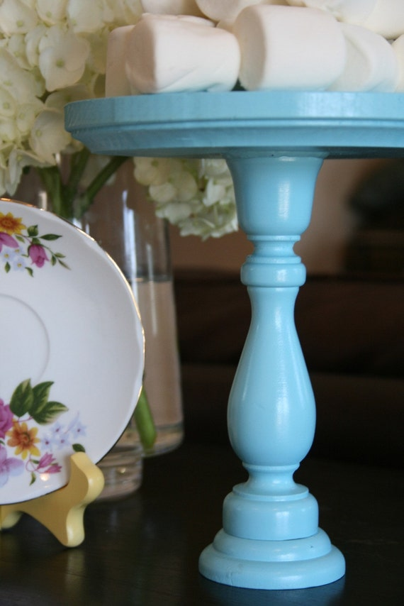 blue cake stand  small  tall size