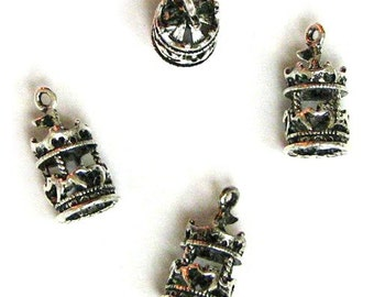 4 Silver Plated Merry Go Round Carousel Charms