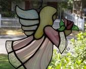 Stained Glass Angel Suncatcher