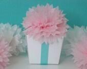 5 Tissue Paper Poms/Flowers For Favors/Napkins