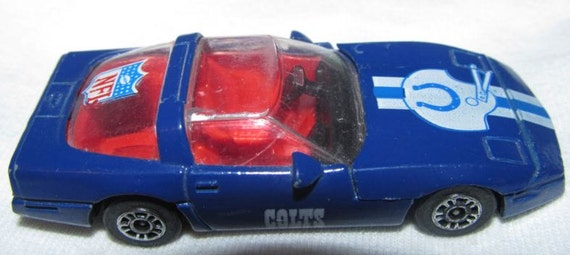 Baltimore Colts 1/64 Corvette 1983 Corgi Trading Cars NFL Diecast Car Football Team Collectible Vintage Toy (Now Indianapolis Colts)