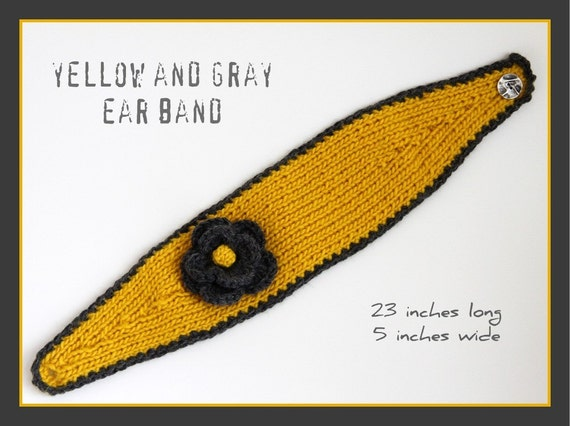 yellow and gray ear band
