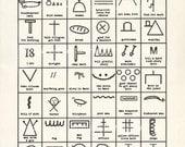 Poster - Hobo Symbols Art Print