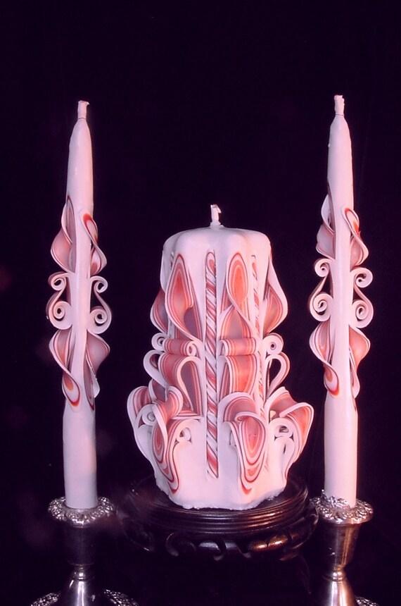 Unity Candles in Fuchsia