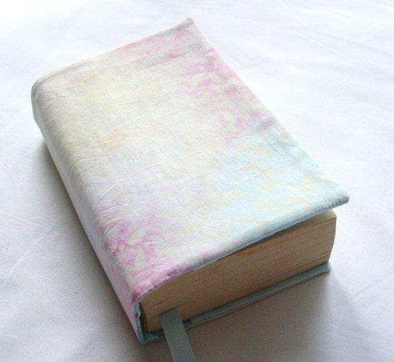 Cloth Book Covers With Handles ~ Cloth book cover mist batik and hand dyed by