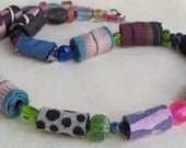 FUNFAIR-STREET FASHION-reclaimed hand rolled fiber necklace-