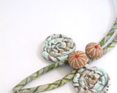 Growth- A different touch- A handmade soft fiber necklace