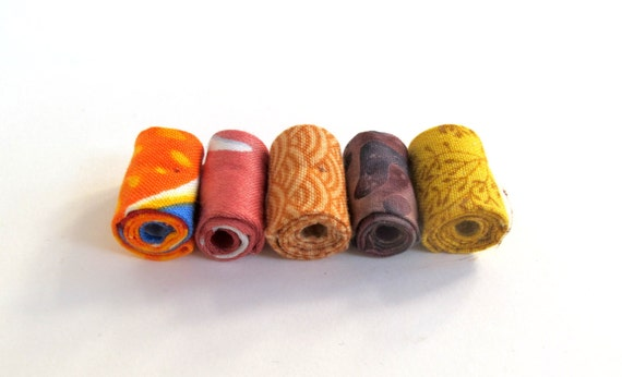 Patchwork artisan fabric beads supply in harvest time mixed printed cotton