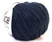 2 Skeins Dark Navy Bellone Alpaca Yarn Ice Alpaca Merino Acrylic 131Y 21876