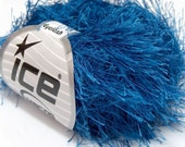 Royal Blue Long Eyelash Yarn Ice Blue Fun Fur 4259 22780