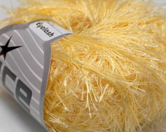Corn Yellow Eyelash Yarn Ice Fun Fur 50 gram 22755