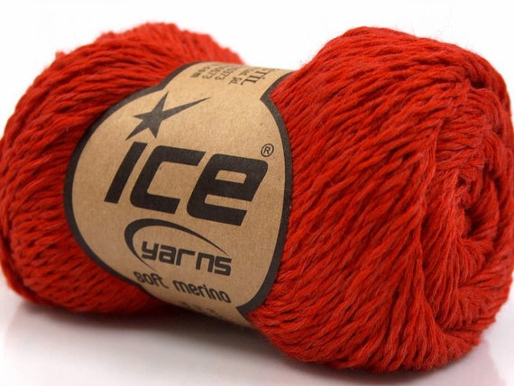 2 Skns Dark Orange Ice Soft Merino Wool Blend Yarn 80% Merino 295Y 15968