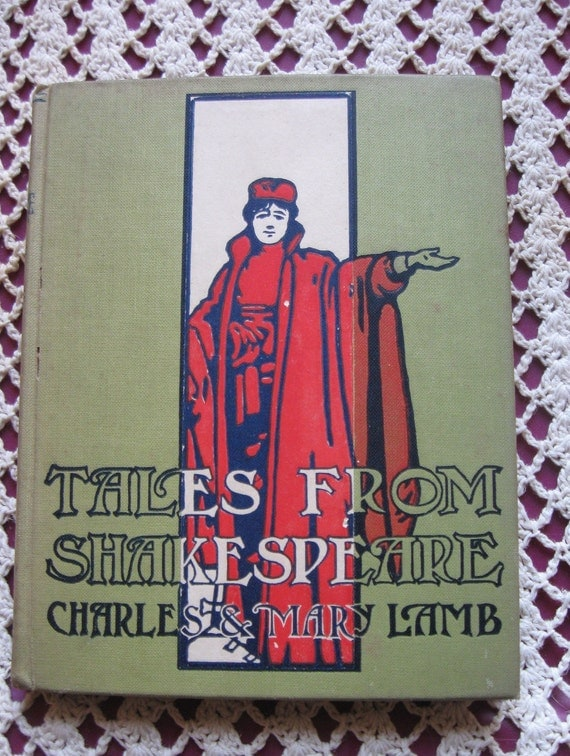 Tales From Shakespeare by Charles and Mary Lamb Cloth Covers Illustrated late 1800s