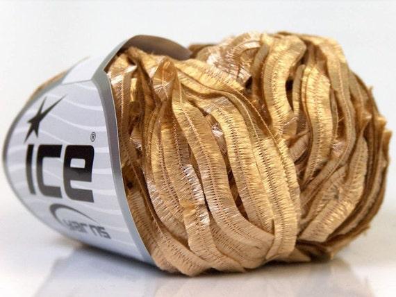 Brushed Gold Soft Flutter Ribbon Ice 20873 109Y