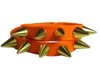 Siren spike wrap bracelet