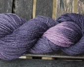 End of Summer SALE - Hand dyed Gower Wool - Family produced 4ply weight Welsh wool -Slate