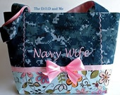 Navy Wife Military Purse with Bow