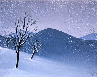 Purple Mountain Snow I