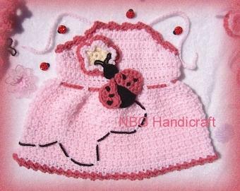 AMAZINGCROCHET Ladybug Poncho Halter 5-pc Outfit crochet pattern