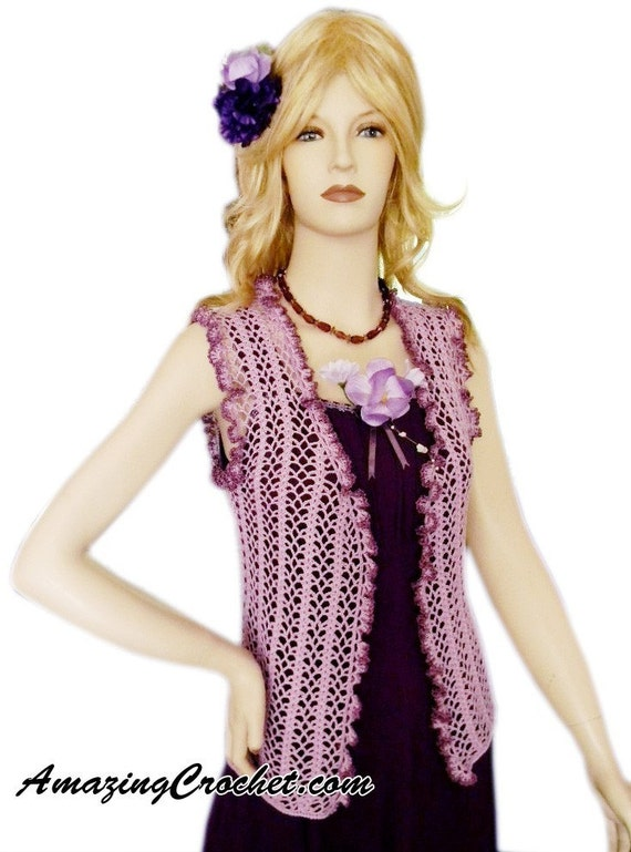 AMAZINGCROCHET Lilac Summer Top Crochet pattern