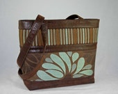 Was 135 - Stripes and Daisies Handbag - TAPESTRY HANDBAGS