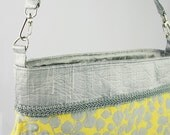 Yellow and Silver Willow Silk Handbag