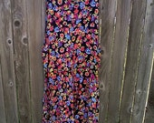 1980s Floral Jumper Dress Vintage