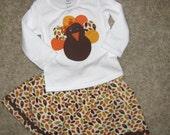 Happy Fall/Thanksgiving Shirt and Skirt set  baby, toddler, girl