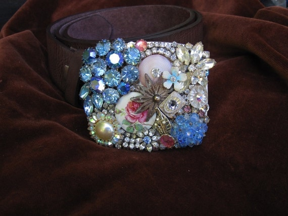 Vintage Jewelry Belt and Buckle
