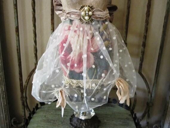 Dress Form on Vintage Glass Base