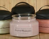 8 - 10oz Soy Jars with black metal lids - You Choose the Scents - Multiple Item Savings