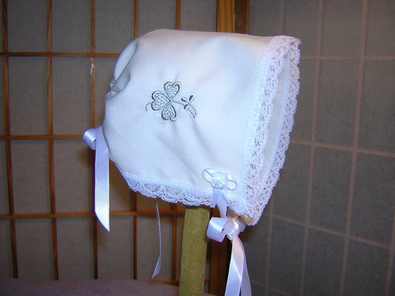 Irish Baby Bonnet Brides Wedding Handkerchief Keepsake