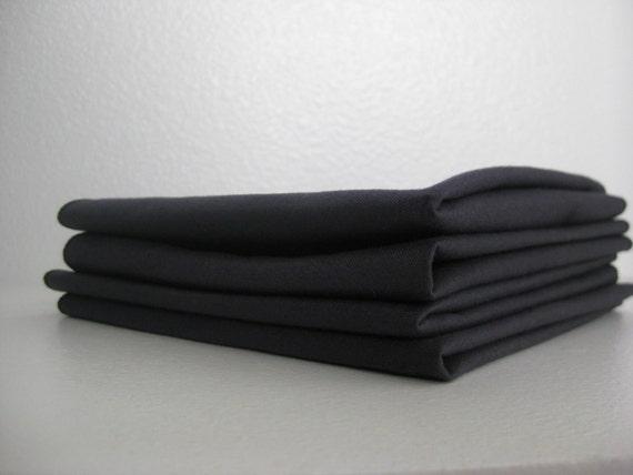 Cloth Napkins - Charcoal Grey  - 9.5 Inch Cotton (24 cm)