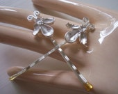 Vintage Bobby Pins Silver Bugs